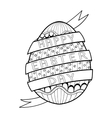 Hand drawn artistic Easter egg for adult coloring vector image