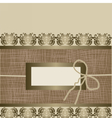 Handmade Vintage Greeting card vector image vector image
