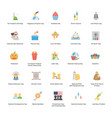 holiday icons pack vector image