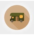 house for camping travel trailer vector image