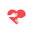 hug heart icon design template isolated vector image vector image