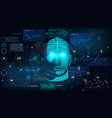 human big data visualization vector image vector image