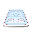 ice hockey playground arena 3d icon vector image