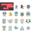 icon set for cryptography vector image