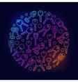 Keys circular bright vector image vector image