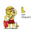 lion lifeguard profession animals abc alphabet l