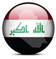 Map on flag button of Iraq vector image vector image