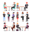 meeting of business people vector image vector image