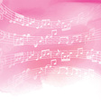 music notes on watercolor background 1606 vector image vector image