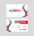 new simple business card is red black vector image vector image