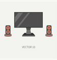 plain flat color computer part icon lcd vector image