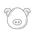 pork meat line icon vector image vector image