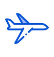 public transport airplane thin line icon vector image vector image