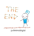 pulmonologist from cigarettes to put the words vector image