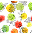 seamless pattern with leaves vector image