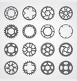set of 16 isolated gears and cogs vector image vector image