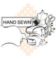 sewing and cutting electric sewing machine symbol vector image vector image