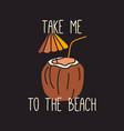 summer beach t shirt design on black vector image vector image