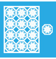 Template for laser cutting vector image vector image