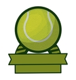 tennis tournament thropy emblem with ball vector image vector image