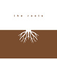 the roots graphic design template vector image vector image