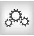 Three grey gear wheels vector image vector image