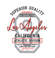 typography athletic los angeles california sport vector image vector image