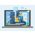 Urban Landscape in Flat Design vector image