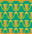 winner cup gold seamless pattern prize of vector image vector image