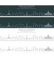 yangon single line skyline banner vector image vector image