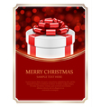 Gift box and light christmas background vector image