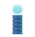 internet server concept in flat design vector image