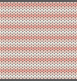 pink striped knitted seamless pattern vector image