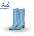 blue boots vector image