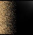 festive background with falling glitter confetti vector image