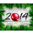 2014 Christmas and New Year Colorful Background vector image