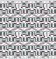 abstract ruffle geometric seamless pattern pixel vector image vector image