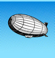 airship pop art vector image vector image