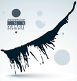 Artistic monochrome abstract dirty ink template vector image vector image