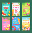 best offer summer proposition vector image vector image
