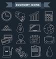 Black and white Economy icon set vector image