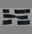 black duct tape pieces insulating stripes set vector image vector image