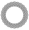 braided knitted guilloche rosette frame vector image