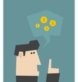 Businessman talking about money vector image vector image