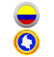 button as a symbol COLOMBIA vector image