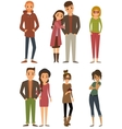 Character set with flat design style vector image vector image