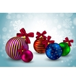 Christmas balls background holiday winter hristmas vector image vector image