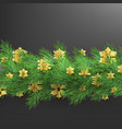 christmas border made of realistic looking pine vector image vector image