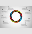 circle divided to eight parts filled color vector image vector image