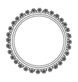 circle frame elegant isolated icon vector image vector image